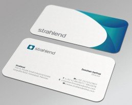 business cards curved edge